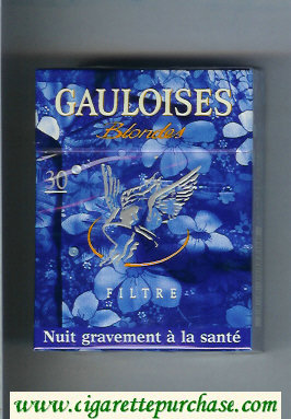 Discount Gauloises Blondes Filtre blue 30s cigarettes hard box