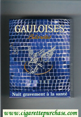 Discount Gauloises Blondes cigarettes Filtre blue 30s hard box