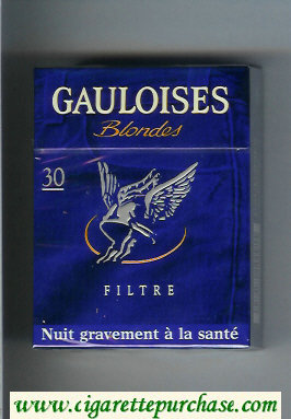 Discount Gauloises Blondes Filtre blue 30s hard box cigarettes