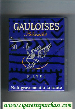 Discount Gauloises Blondes cigarettes Filtre 30s blue hard box