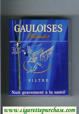 Discount Gauloises Blondes Filtre 30s blue hard box cigarettes