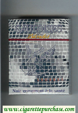 Discount Gauloises Blondes Legeres 25s grey cigarettes hard box