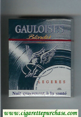 Discount Gauloises Blondes Legeres grey 25s cigarettes hard box