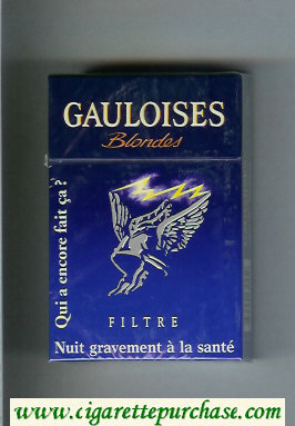 Discount Gauloises Blondes Filtre hard box blue cigarettes