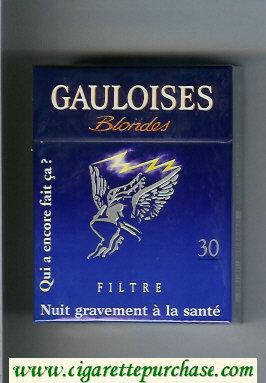 Discount Gauloises Blondes Filtre Qui a Encore Fait Ca ' Blue 30s cigarettes hard box