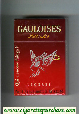 Discount Gauloises Blondes Qui a Encore Fait Ca ' Legeres cigarettes hard box