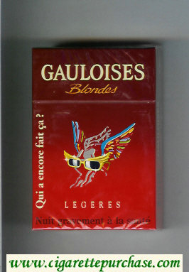Discount Gauloises Blondes cigarettes Qui a Encore Fait Ca ' Legeres hard box