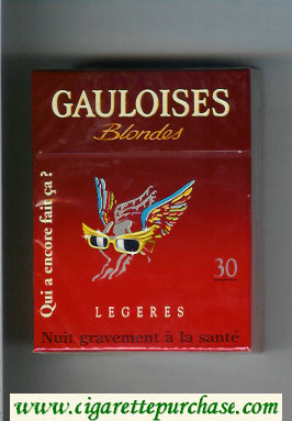 Discount Gauloises Blondes cigarettes Qui a Encore Fait Ca ' Legeres 30s hard box