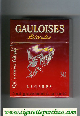 Discount Gauloises Blondes Legeres Qui a Encore Fait Ca ' 30s cigarettes hard box