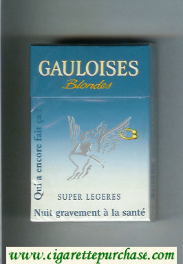 Discount Gauloises Blondes Qui a Encore Fait Ca ' Super Legeres Cigarettes hard box