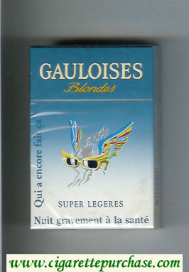Discount Gauloises Blondes Cigarettes Qui a Encore Fait Ca ' Super Legeres hard box