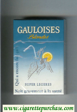 Discount Gauloises Blondes Super Legeres Qui a Encore Fait Ca ' Cigarettes hard box