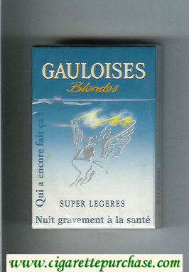 Discount Gauloises Blondes Cigarettes Super Legeres Qui a Encore Fait Ca ' hard box
