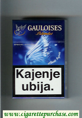 Discount Gauloises Blondes blue Cigarettes hard box