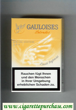 Discount Gauloises Blondes yellow Cigarettes hard box