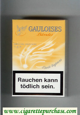 Discount Gauloises Blondes Liberte Toujours yellow Cigarettes hard box
