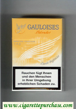 Discount Gauloises Blondes Cigarettes Liberte Toujours yellow hard box