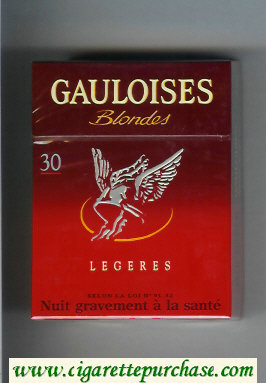 Discount Gauloises Blondes Legeres 30s red Cigarettes hard box