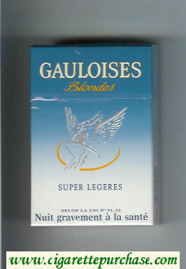 Discount Gauloises Blondes Super Legeres Cigarettes hard box