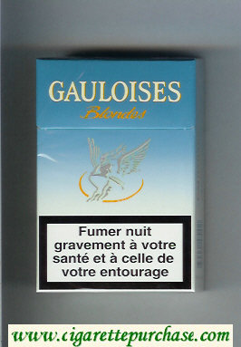 Discount Gauloises Blondes light blue Cigarettes hard box
