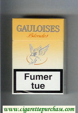 Discount Gauloises Blondes Cigarettes yellow hard box