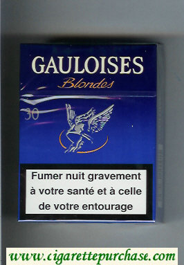 Discount Gauloises Blondes 30s blue Cigarettes hard box