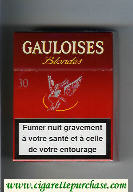 Discount Gauloises Blondes 30s red Cigarettes hard box