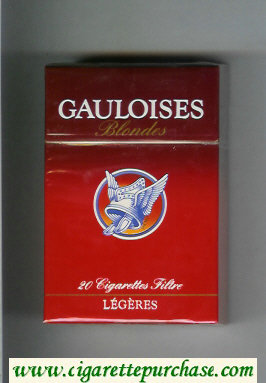 Discount Gauloises Blondes Legeres Cigarettes hard box