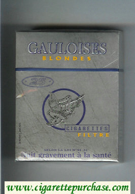 Discount Gauloises Blondes 25s Filtre grey Cigarettes hard box