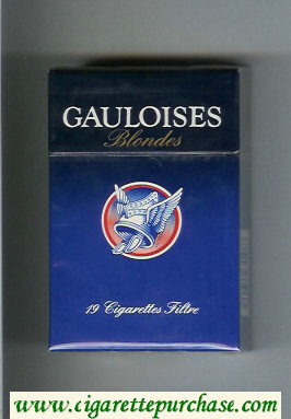 Discount Gauloises Blondes Cigarettes hard box