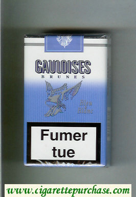 Discount Gauloises Brunes Bleu and Blanc cigarettes soft box