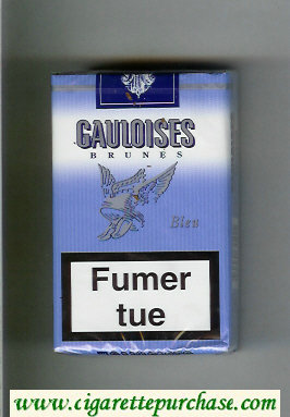 Discount Gauloises Brunes Bleu cigarettes soft box