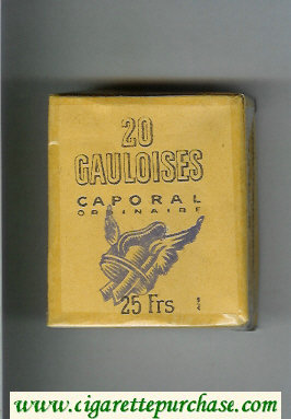 Discount Gauloises Caporal Ordinaire white cigarettes soft box
