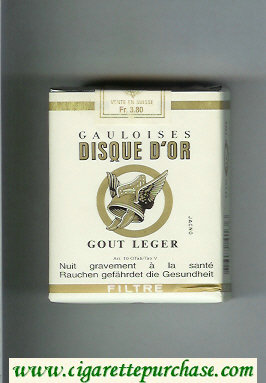 Discount Gauloises Disque D'Or Gout Leger Filtre cigarettes soft box