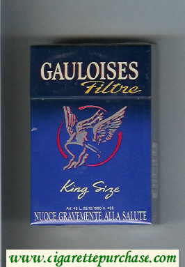 Discount Gauloises Filtre King Size cigarettes hard box