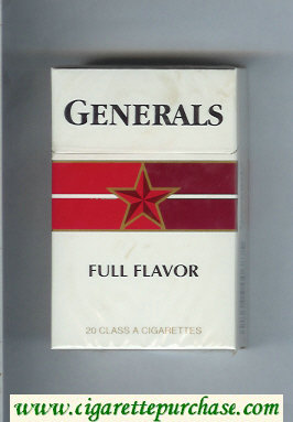 Generals Full Flavor cigarettes hard box