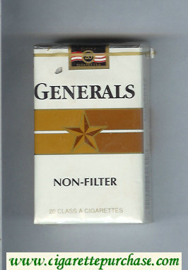 Generals Non-Filter cigarettes soft box