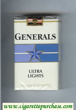Generals Ultra Lights cigarettes soft box