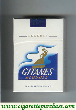 Discount Gitanes Blondes Legeres white and blue cigarettes hard box