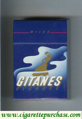 Discount Gitanes Blondes Milds blue cigarettes hard box
