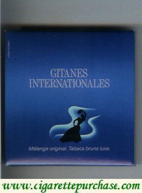 Discount Gitanes Internationales blue cigarettes wide flat hard box