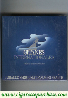 Discount Gitanes cigarettes Internationales blue wide flat hard box