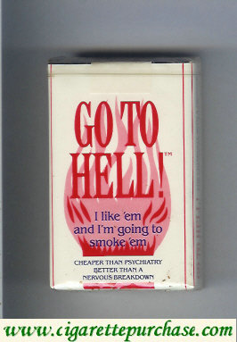 Go To Hell cigarettes soft box