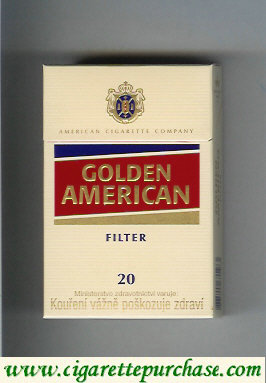 Golden American Filter yellow and red cigarettes hard box