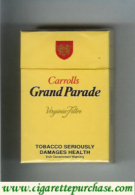 Discount Carrolls Grand Parade Virginia Filter cigarettes hard box