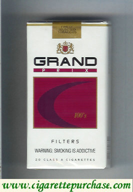 Discount Grand Prix 100s Filters cigarettes soft box