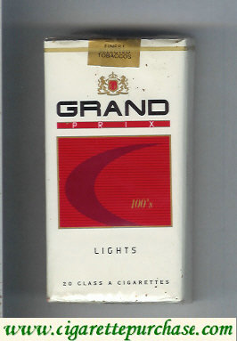 Discount Grand Prix 100s Lights cigarettes soft box