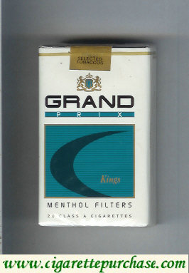 Discount Grand Prix Kings Menthol Filters cigarettes soft box