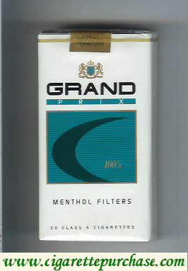 Discount Grand Prix 100s Menthol Filters cigarettes soft box