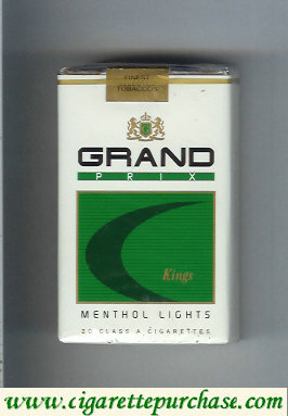 Discount Grand Prix Menthol Lights cigarettes soft box